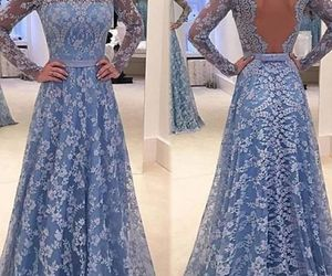 long sleeves prom dress and prom dress a-line image