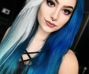 beautiful, blue, and girl image