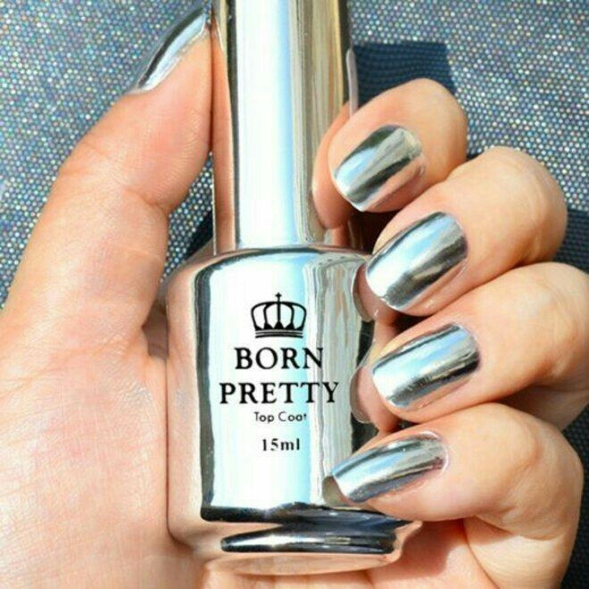 nails, beauty, and silver image