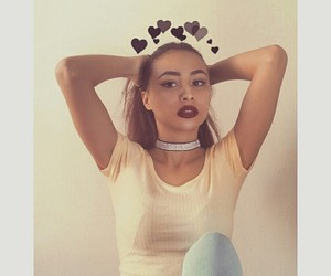 choker, clothe, and french girl image
