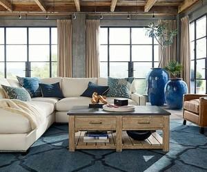 home decor, white furniture, and blue and white decor image