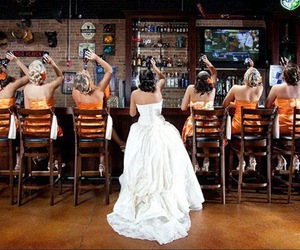 beers, bride, and drink image