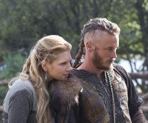 vikings, lagertha, and ragnar image