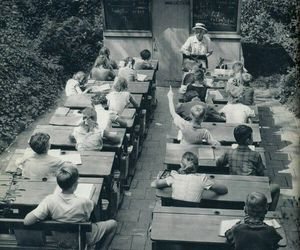 black and white, education, and old image