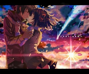kimi no na wa, anime, and couple image