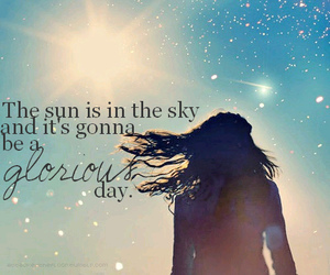 sky, sun, and girl image