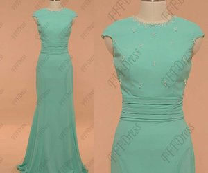 mint green, long prom dresses, and prom dresses image