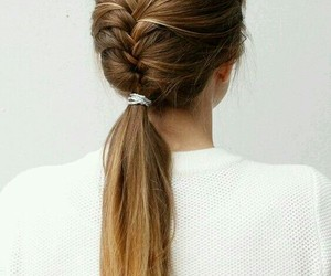 hair, hairstyle, and trenzas image