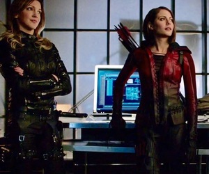 arrow, Black Canary, and girls image