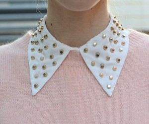 fashion, collar, and pink image