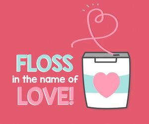 floss, heart, and tooth image