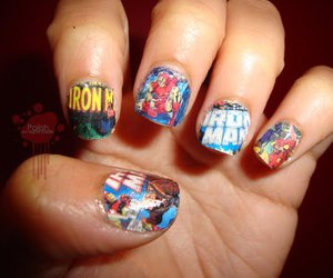 comic, Marvel, and nails image
