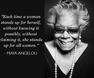 feminism, maya angelou, and quotes image