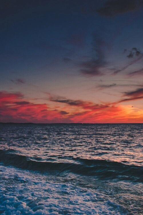 sea, sunset, and sky image