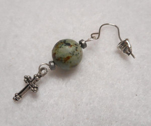 etsy, handmade earring, and silver earring image