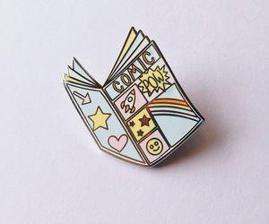 pastel, pins, and badge image