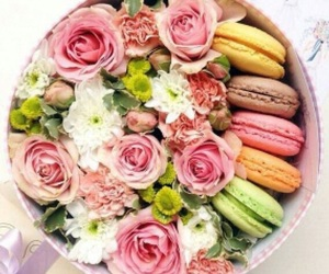 flowers, food, and rose image