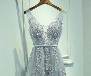 prom dress, prom dresses, and lace prom dress image