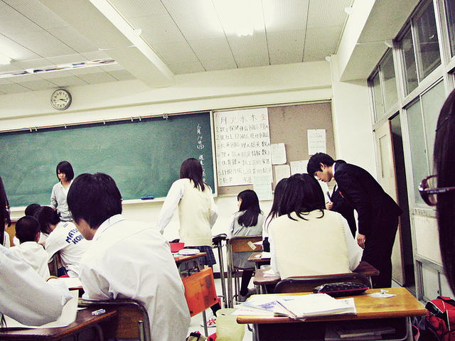 asian, classroom, and high school image