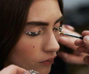 fashion, makeup, and glitter image
