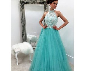 ball gown, formal dress, and long prom dress image