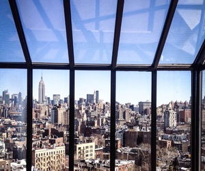 city, view, and new york image