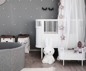 baby, baby room, and bunny image