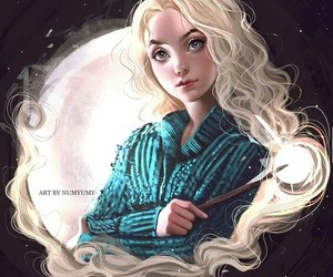 harry potter, drawing, and luna lovegood image