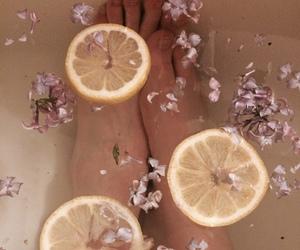 bath, lemon, and aesthetic image