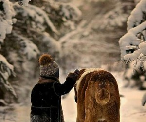 boy, snow, and bestfriends image