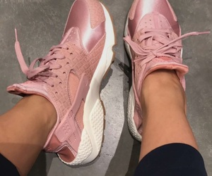 nike, rose, and shoes image