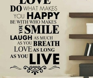 love, happy, and live image