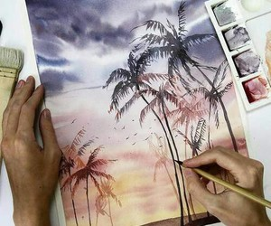 art, drawing, and summer image