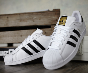 adidas, superstar, and white image