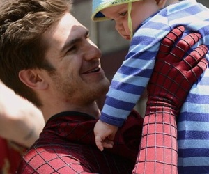 spiderman, andrew garfield, and baby image