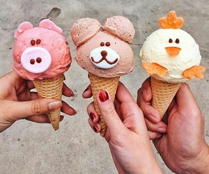 eat, friends, and helados image