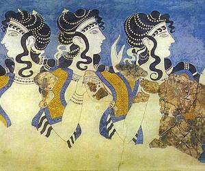 Greece, ancient, and fresco image