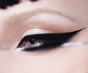 goth, gothic, and graphic liner image