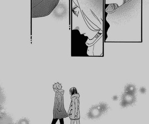 black & white, mangas, and Otaku image