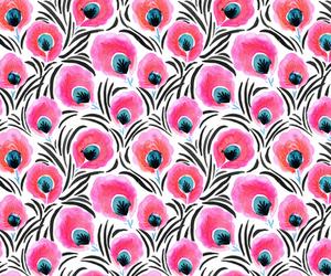 background, botanical, and pink image