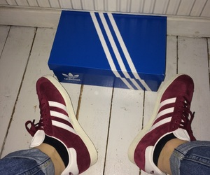 adidas, gazelle, and burgundy image