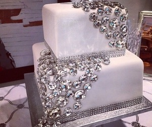 cake, diamond, and white image
