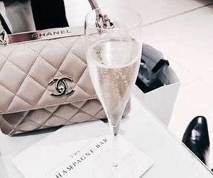 chanel, champagne, and bag image