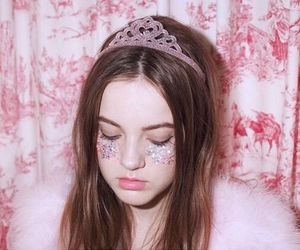 pink, girl, and glitter image