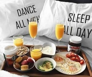 breakfast, food, and nutella image