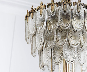 chandelier, decor, and lamp image