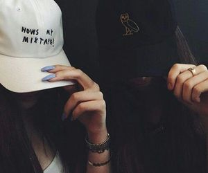 girl, cap, and dope image