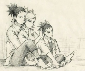 temari, shikamaru, and shikadai image