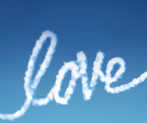 sky, love, and blue image