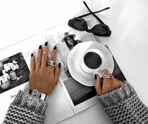 accessories, coffee, and girl image